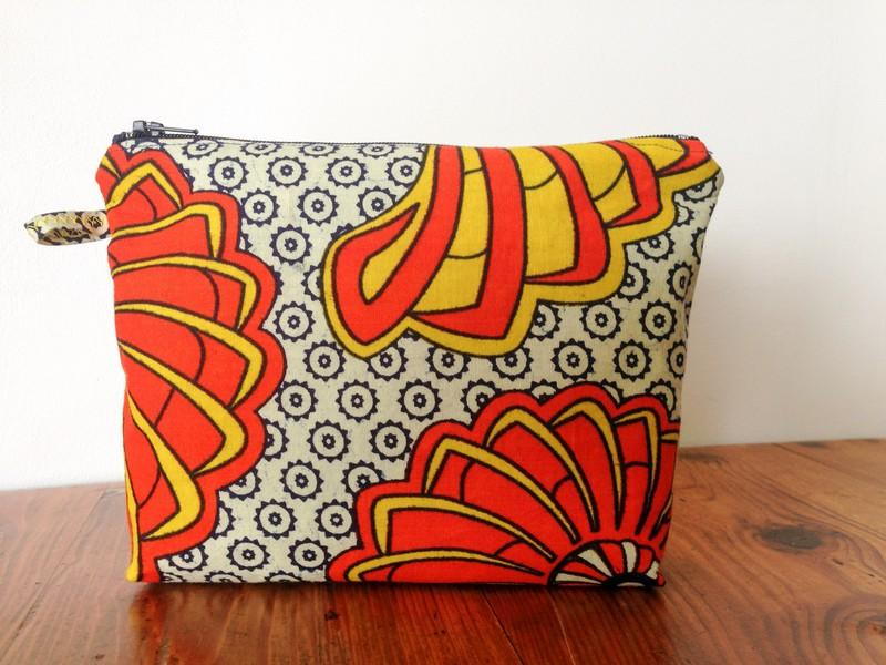 Pochette en tissu africain