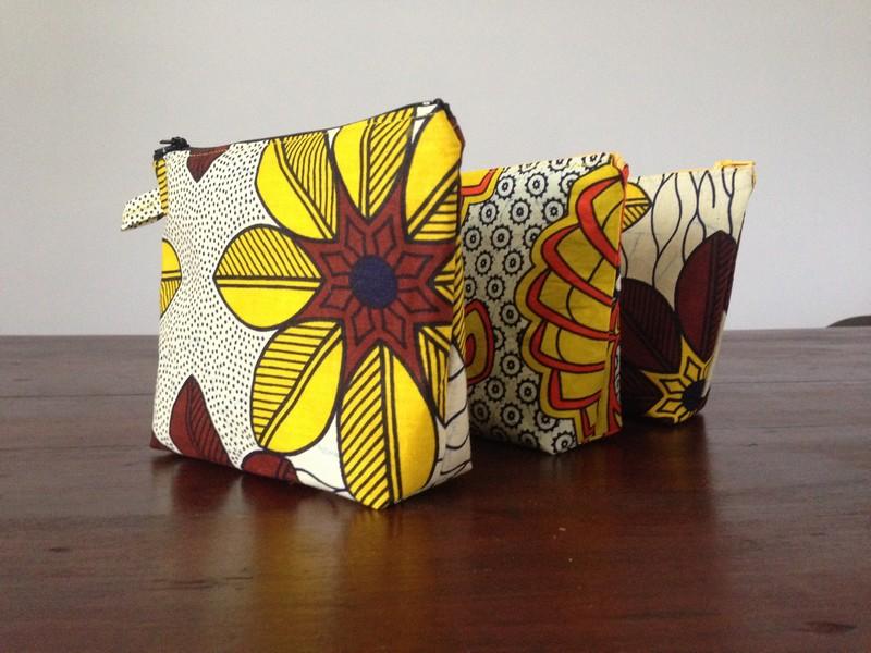 Pochettes en tissu africain