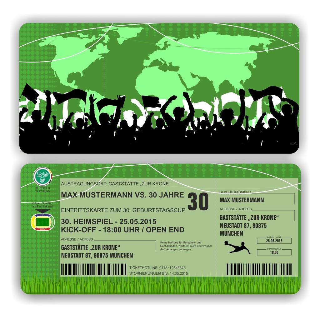 EI 014 Einladungskarte   Stadionkarte