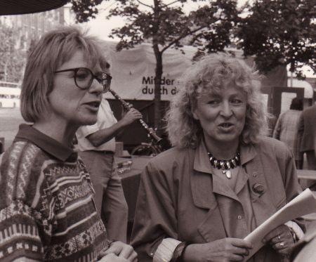 Petra Merkel mit Sigrun Klemmer, MdB a. D.
