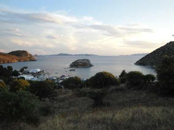 The bay of Gümüslük with Rabbit`s Island