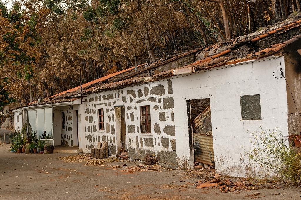 Hier wohnten Roquelina, ihr Bruder und dessen Frau bis zum Brand