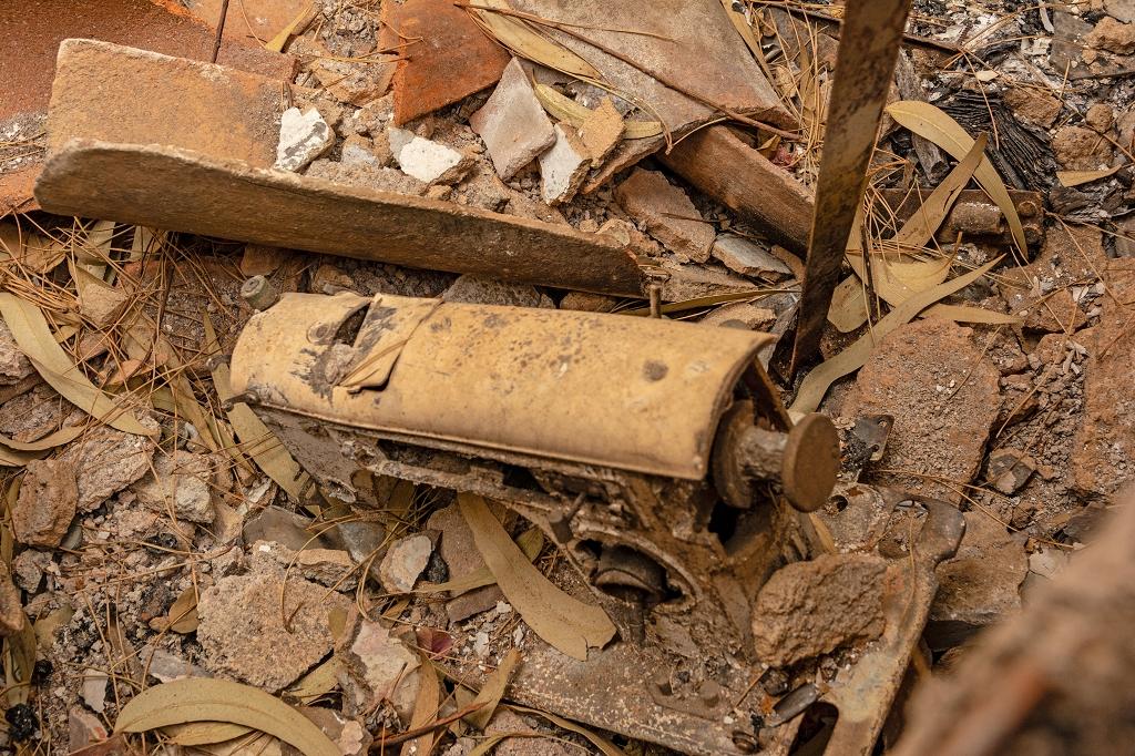 Überreste von Roquelinas Nähmaschine