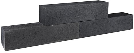 Palinoblock 60x15x15 cm, antraciet strak