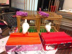 龍山寺鳥占い
