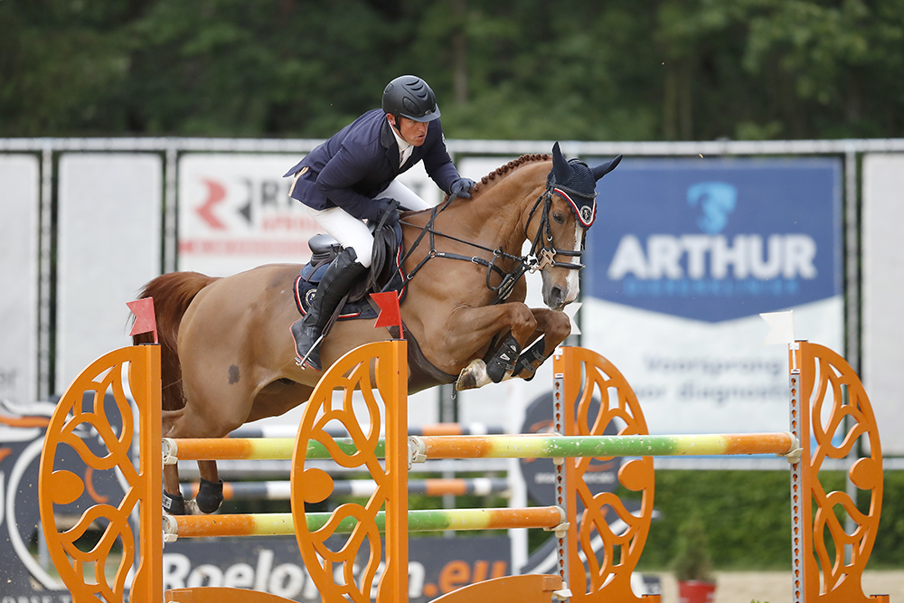 Thomas Kleis won the  1.40m class with Ugaulin Du Bosquetiau