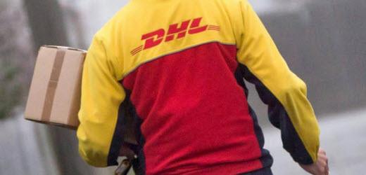 Auf dem 5. Platz landet der Paketlieferant DHL.