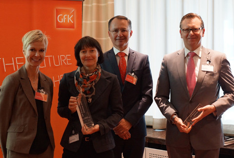 A. Reimer, Senior Research Consultant Brand and Customer Experience GFK; C. Diethelm, Director of Sustainability & Issue Management Migros; L. Szabo, Managing Director GFK; A. Weiss, Head of Investor Relations and Corporate Communications Actelion (v.l.)