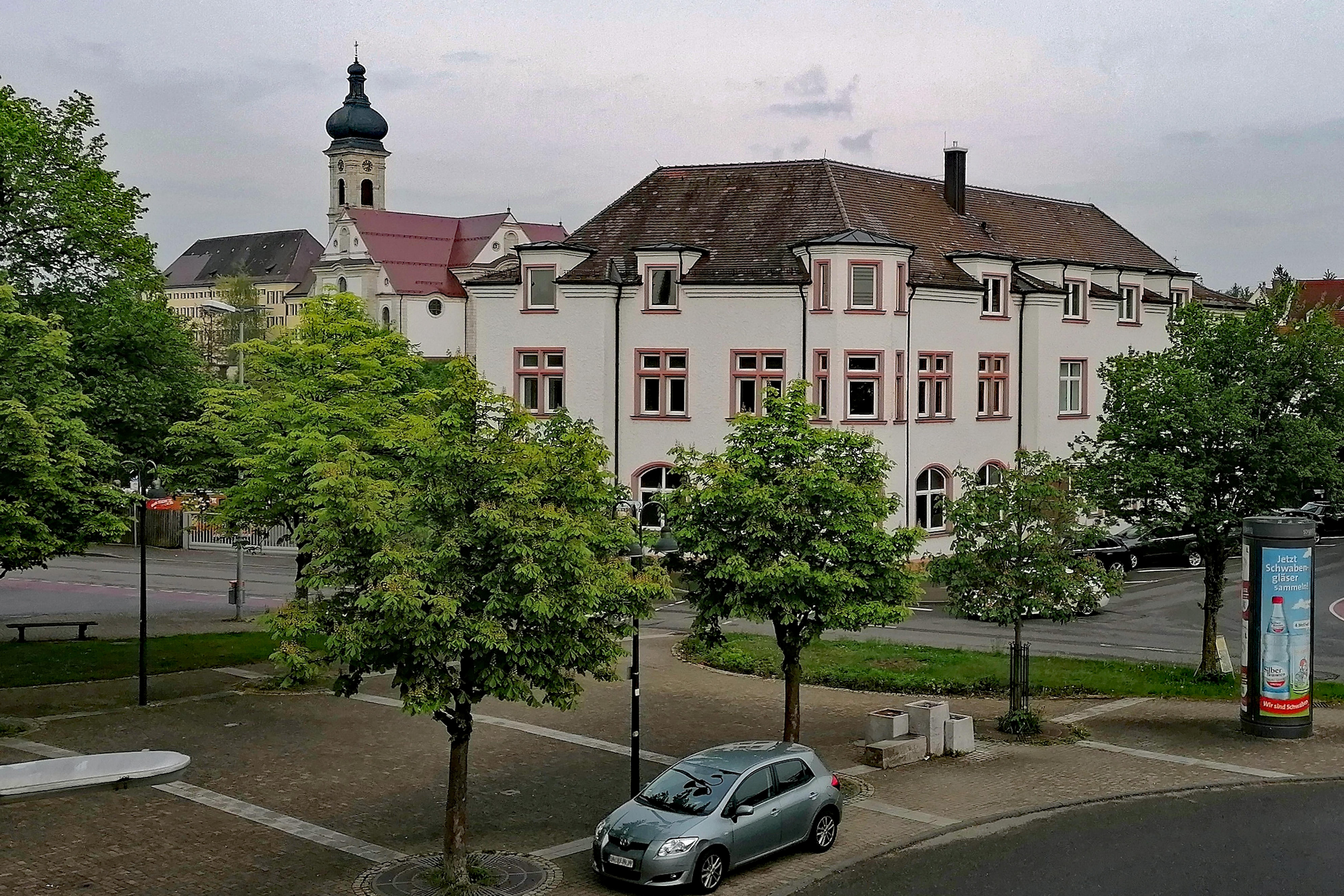 Haus der Vereine in der Bahnhofstraße in Ehingen; der Clubraum des FC Ehingen befindet sich im Dachgeschoß