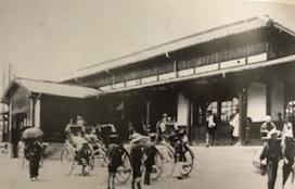 昭和8年頃の丸亀駅の様子