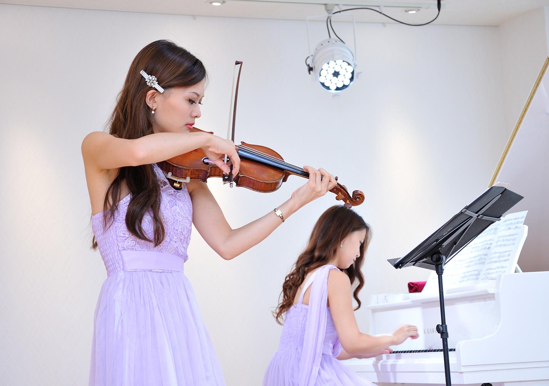 バイオリンとピアノ