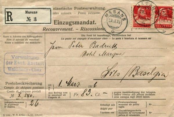 Post Masans 1916