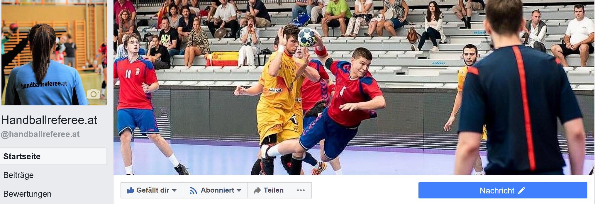 Like! handballreferee.at jetzt auch auf Facebook!