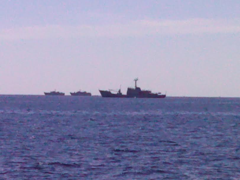 Truppenübung der kroatischen Marine vor Zirje