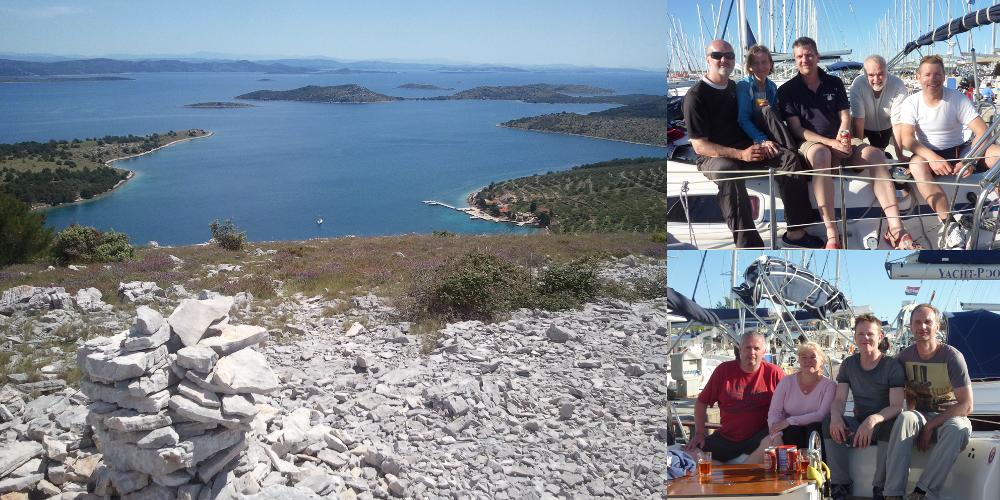 Crewfotos und Zut (Blick über die Inseln)