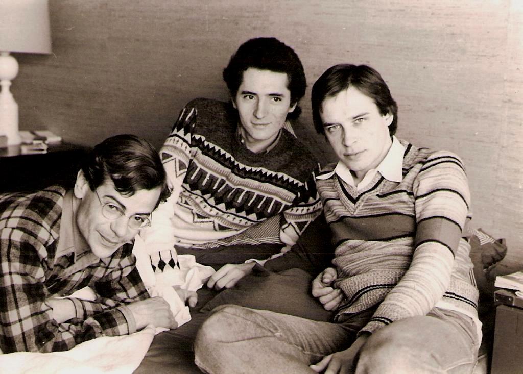 Paul avec Mongie Baccouche et François Lahaut (1976)