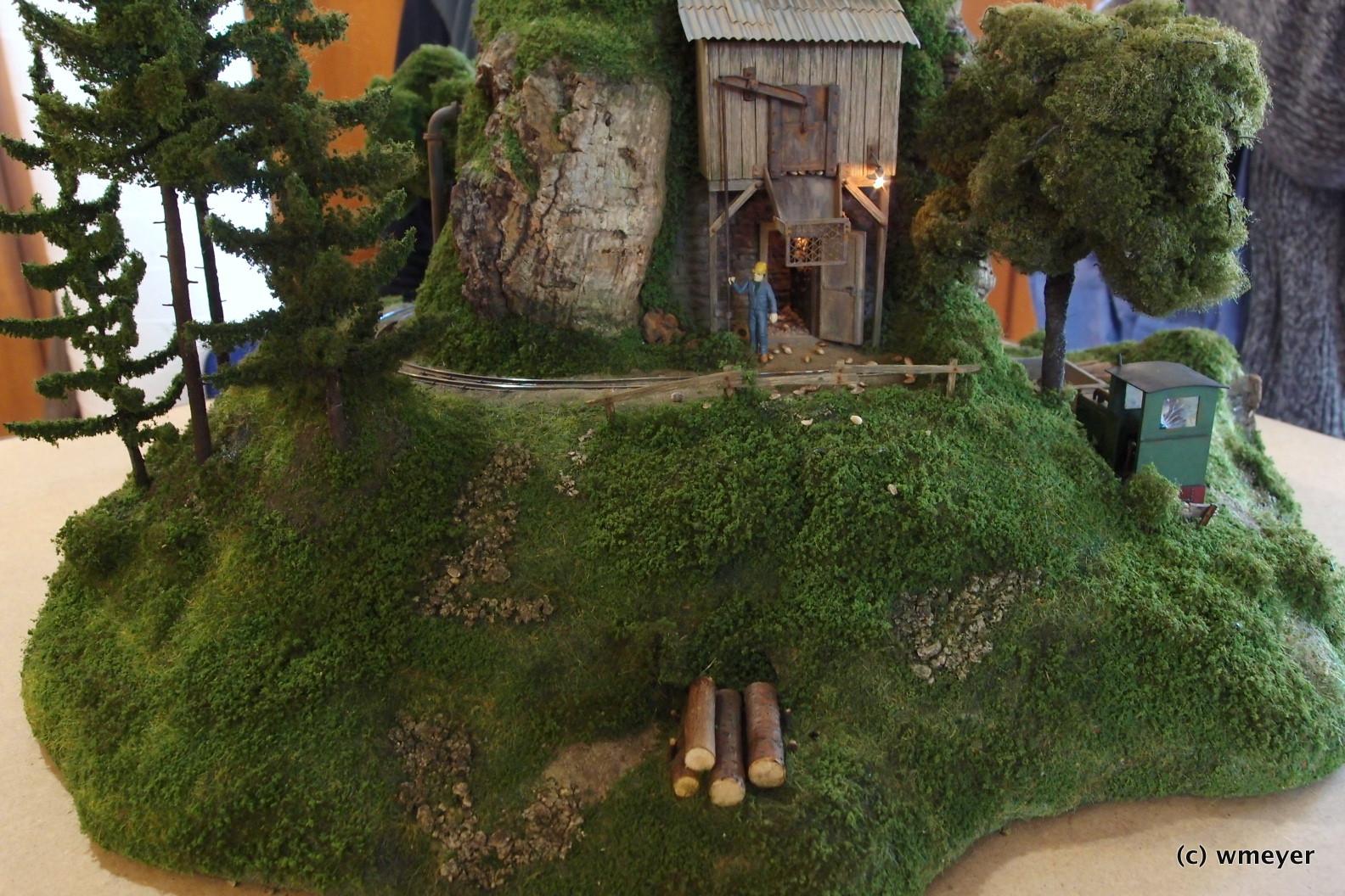 Mini Feldbahn Diorama in großer Spur