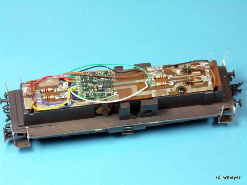 Platine mit Decoder und LED Beleuchtung