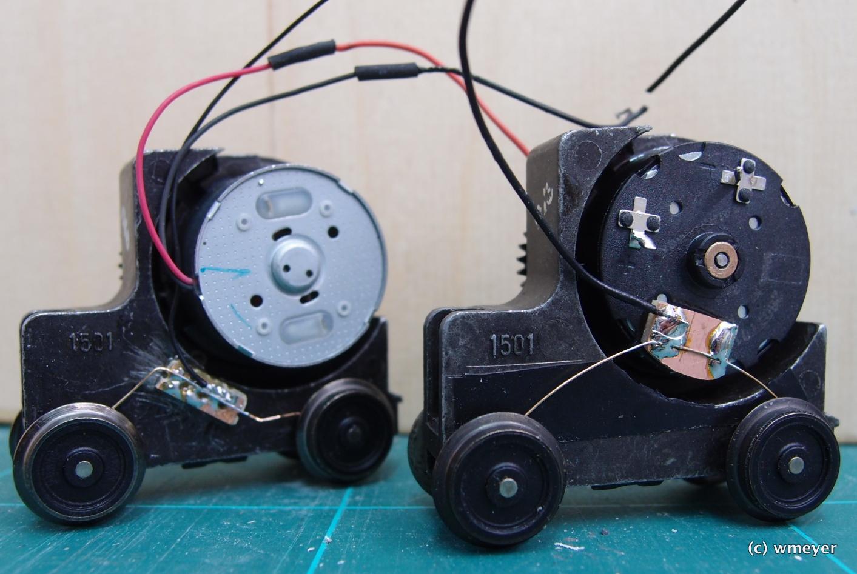 Einfacher Motor und Faulhaber im Vergleich