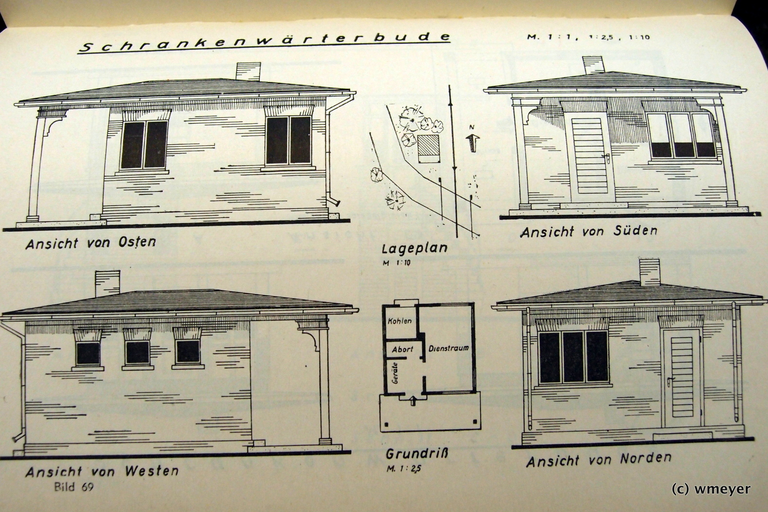 Vorbildzeichnungen für das bereits gebaute Bahnwärterhaus