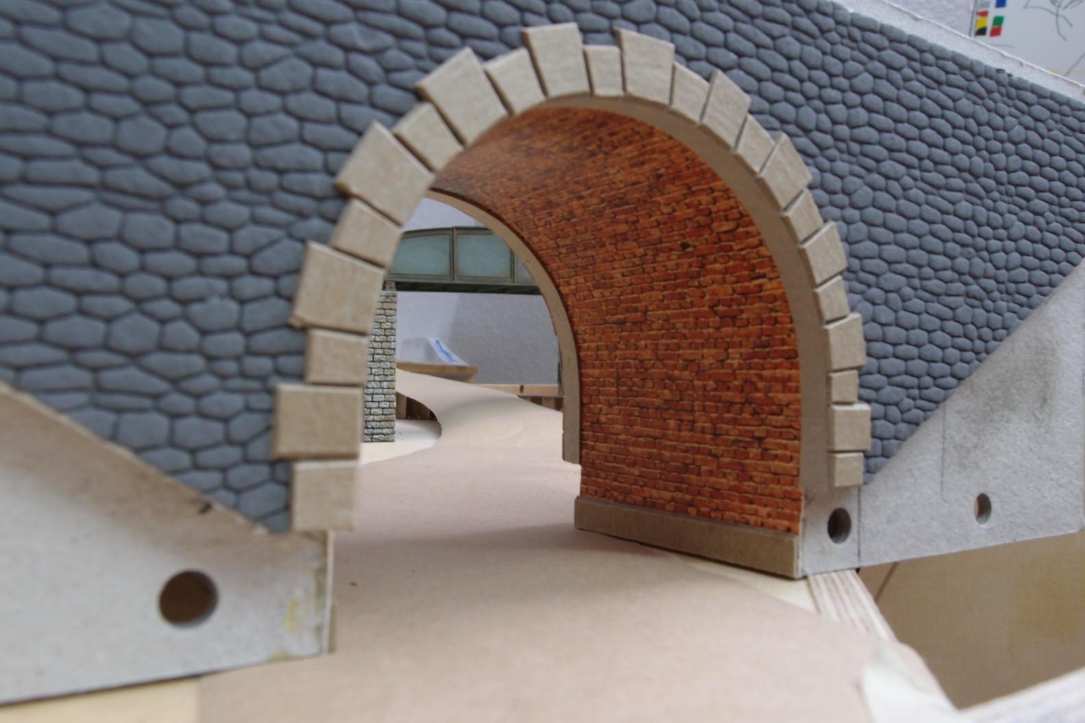 Faller Mauerplatte und Styrodurplatte