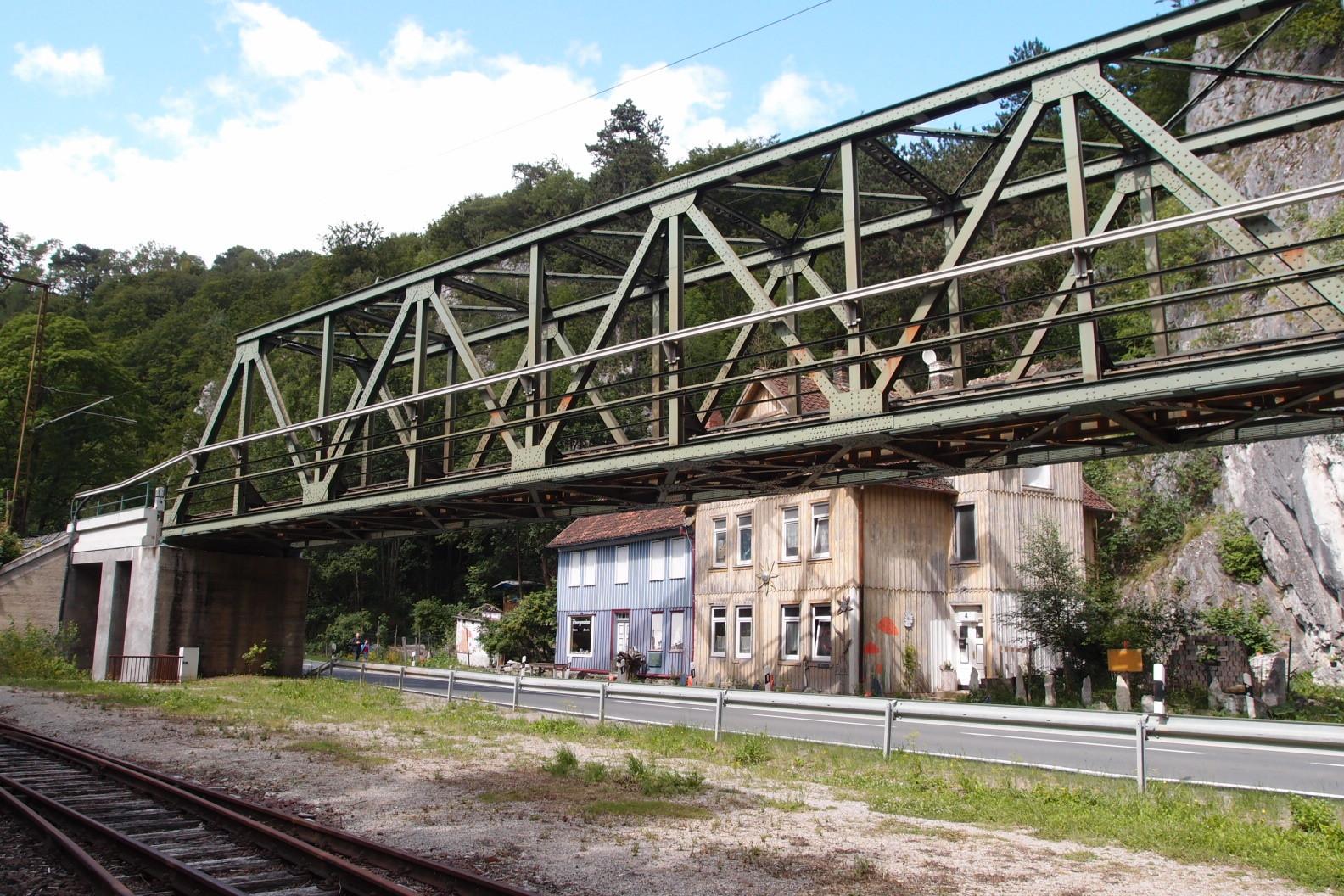 Vielfach fotografierte Brücke in Rübeland