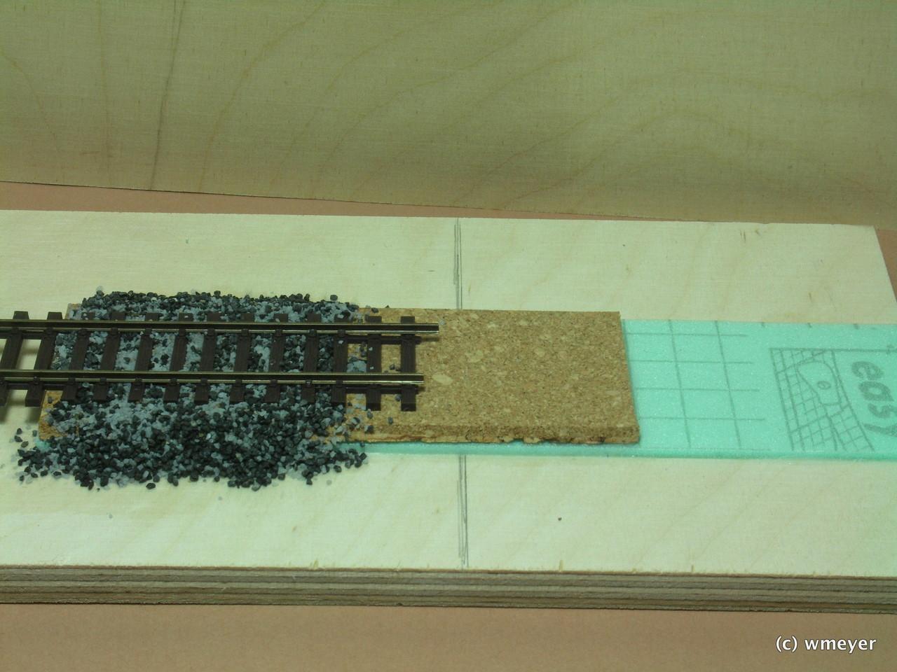 test d mmung gleisoberbau und schotter h0 detailwerks. Black Bedroom Furniture Sets. Home Design Ideas