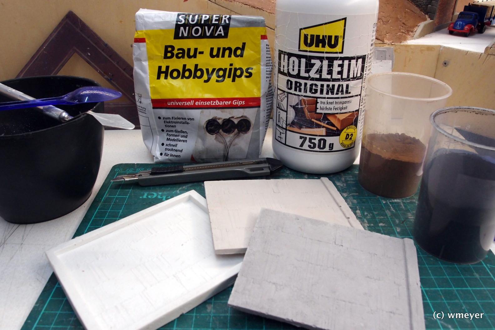 Materialien für das Gießen der Betonmauern