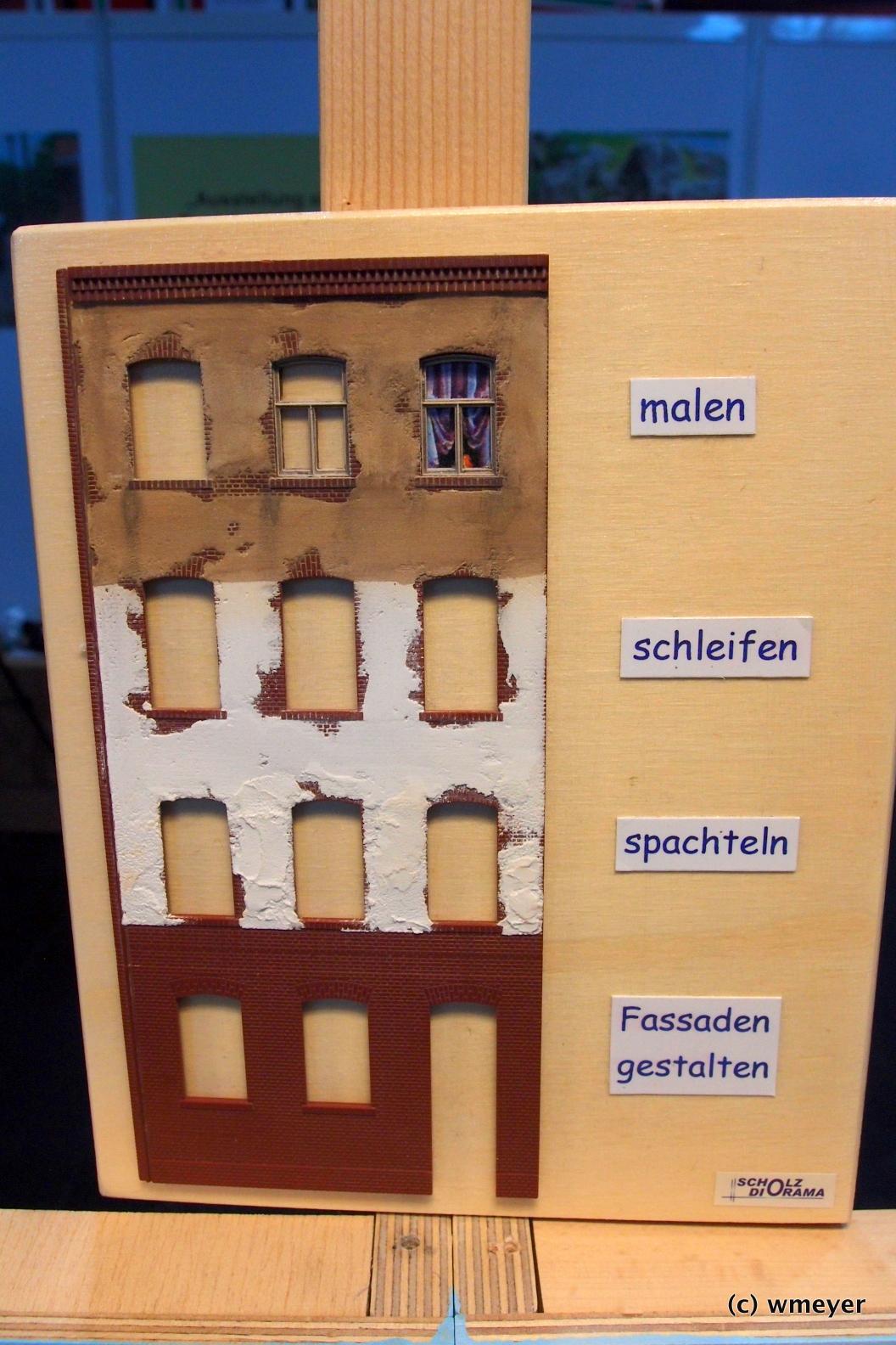 Rangierdiorama in H0, Beispiel für die Gestaltung von Auhagen Wandteilen