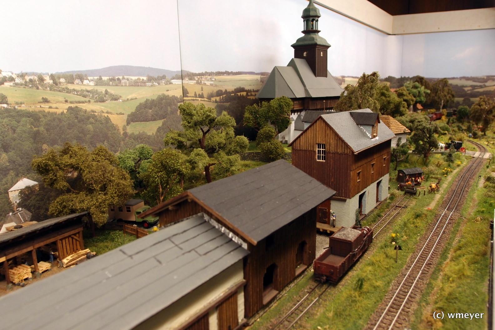 Bahnhof Dorfchemnitz /Sächsische Schmalspurbahn-HOe