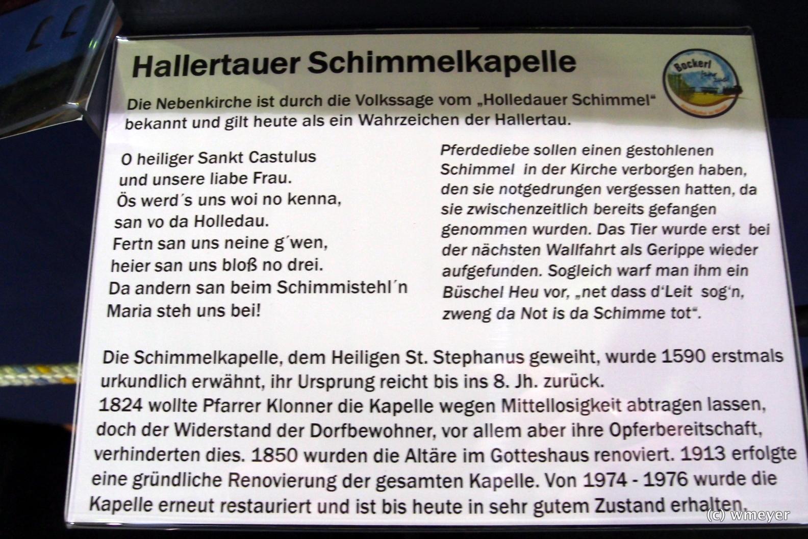 Vorbildliche Bahn in H0 aus Bayern, Infotafel