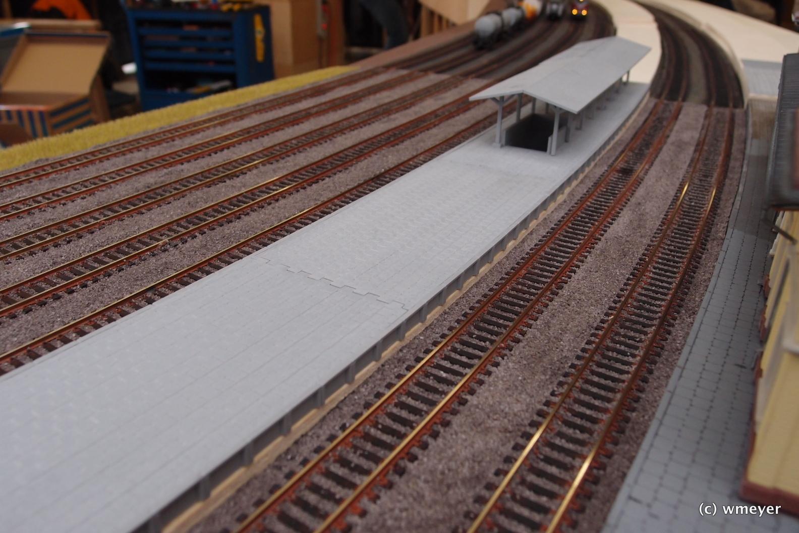 H0 Modellbahn nach Vorbild im Aufbau