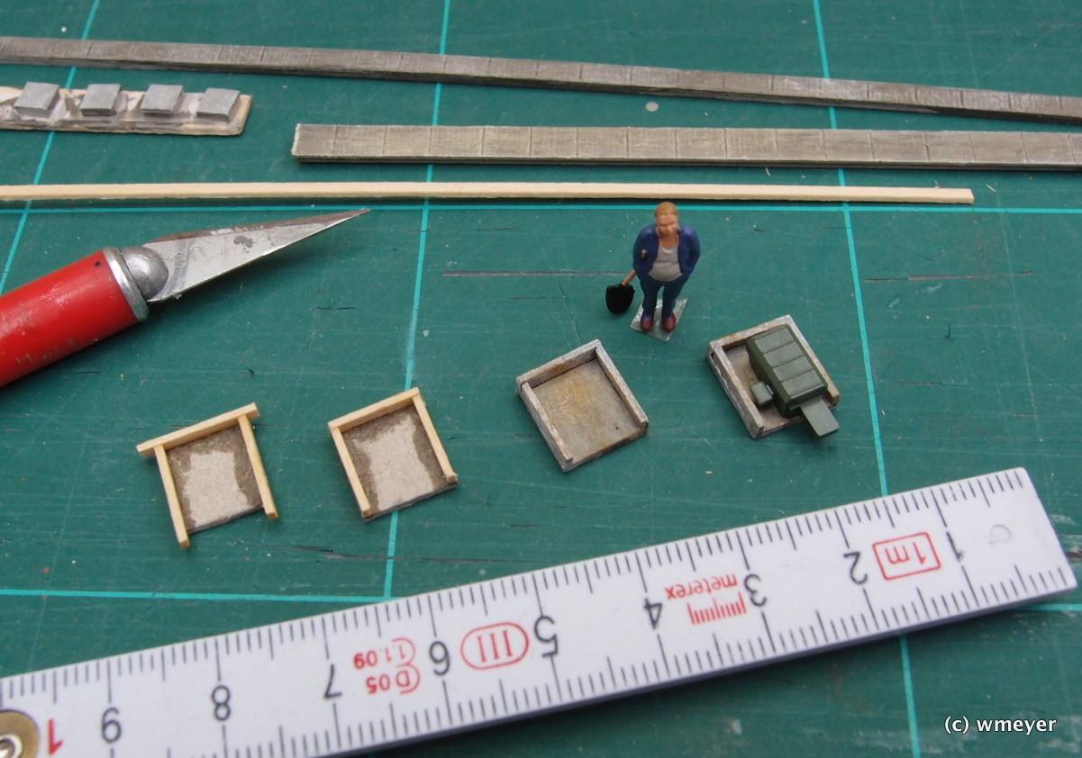 Betoneinrahmung Weichen