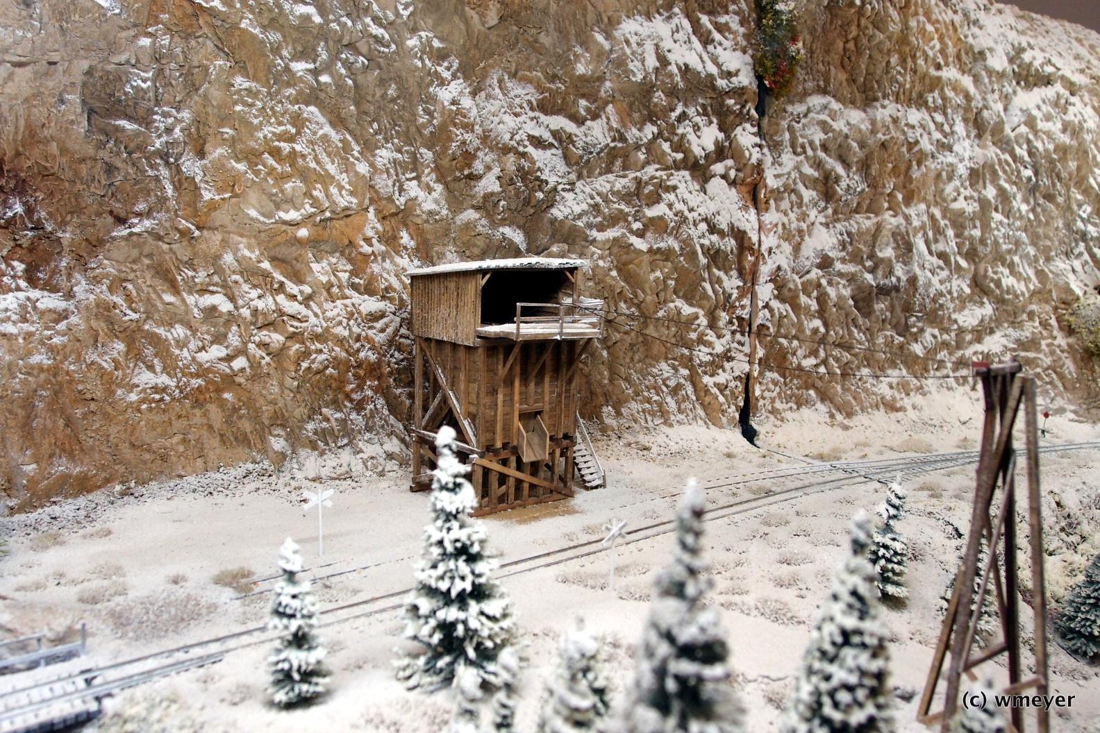 Amerikanische Bahn im ersten Schnee