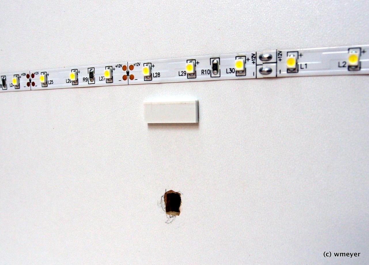 Abstandshalter zum Schutz der LEDs