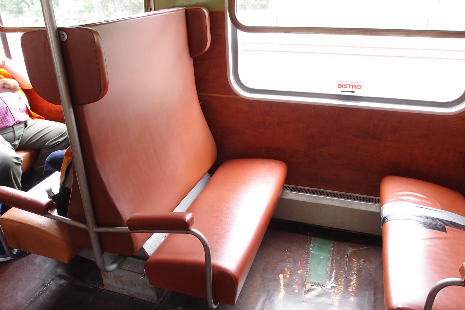 Sitzplätze im Reko-Wagen