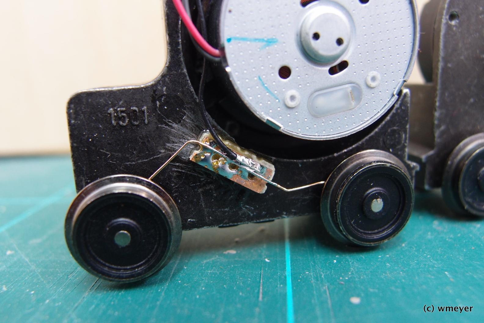 Neue Stromabnahme von den Rädern