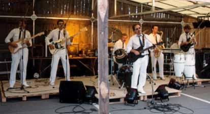 Boehringer Band in Rotkreuz / v.l.n.r.: Fritz Hostettler, Ich, Peter Staub, Rolf Rüegg, Francis und Alfred Schär