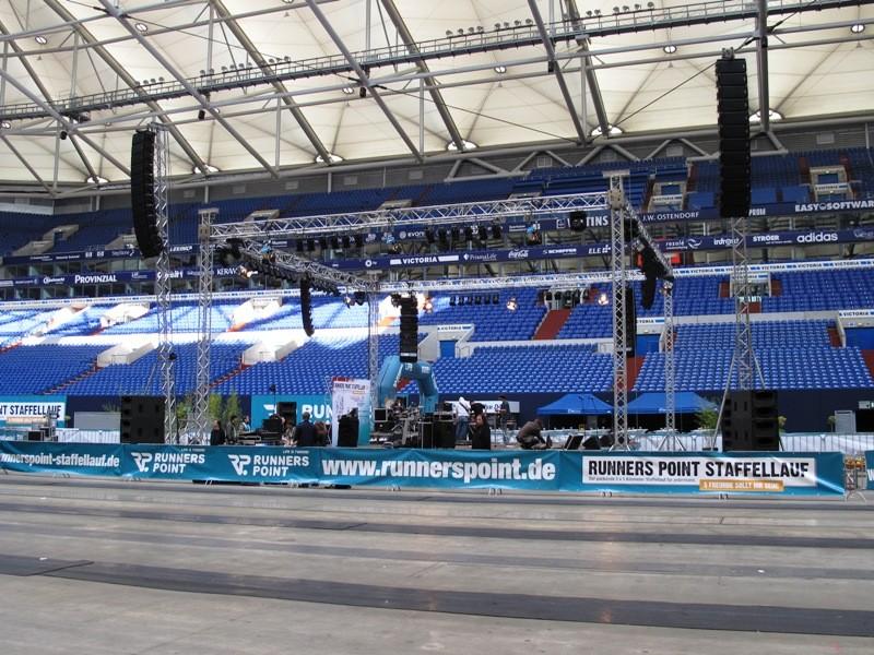 Runnerspoint Staffellauf - Die Bühne