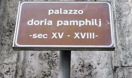 Дворец Дория памфили в Риме