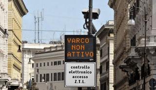 Как выглядит видео камера в Риме для контроля въезда машин, фото