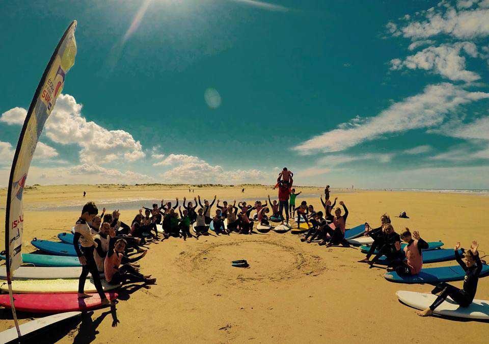 Ecole de surf  (grand plage)