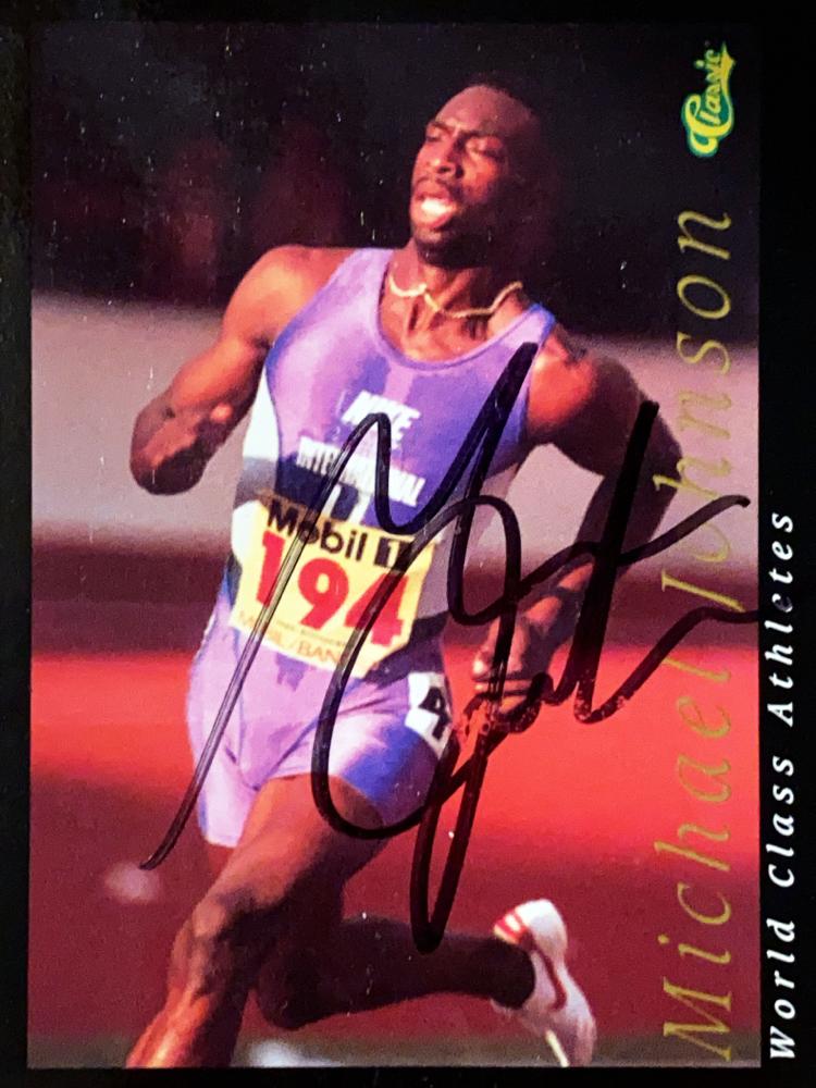 Autograph Michael Johnson Autogramm