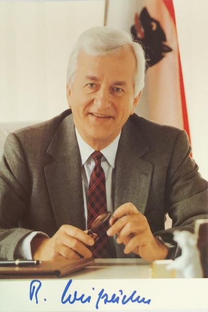 Richard Karl Freiherr von Weizsäcker (1920-2015), 6th President of Germany, Autograph bought with COA