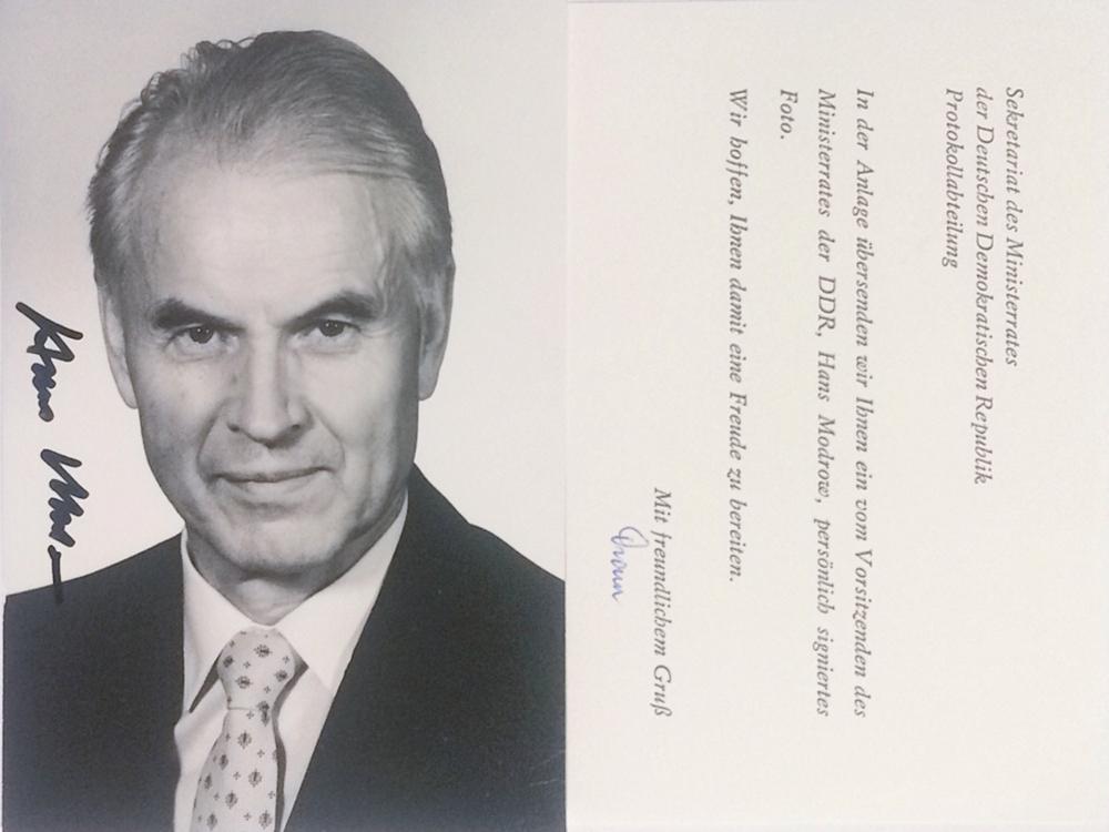 Autogramm Hans Modrow Autogramm