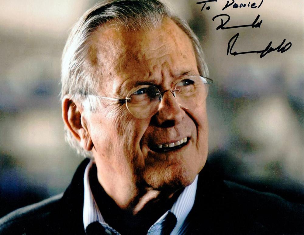Autogramm Donald Rumsfeld Autograph