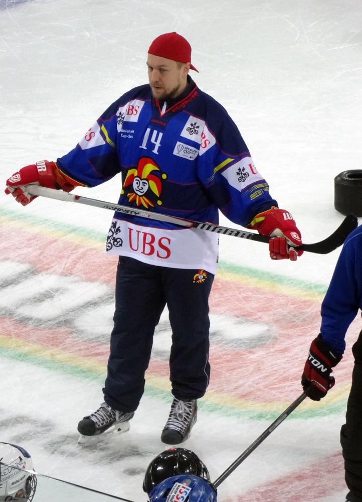 Niklas Hagman, retired, Jokerit Helsinki, Florida Panthers, Toronto, Dallas, Calgary, HC Davos, Kärpät, 770 NHL Games played, Picture taken Spengler Cup 2014 Kids Day (Autograph see Hockey Trading Cards)