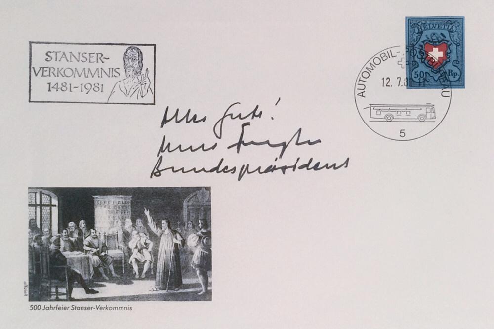 Autograph Kurt Furgler Autogramm