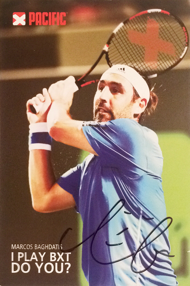 Marcos Baghdatis, won 4 single and one double Tournament, Autograph by Mail