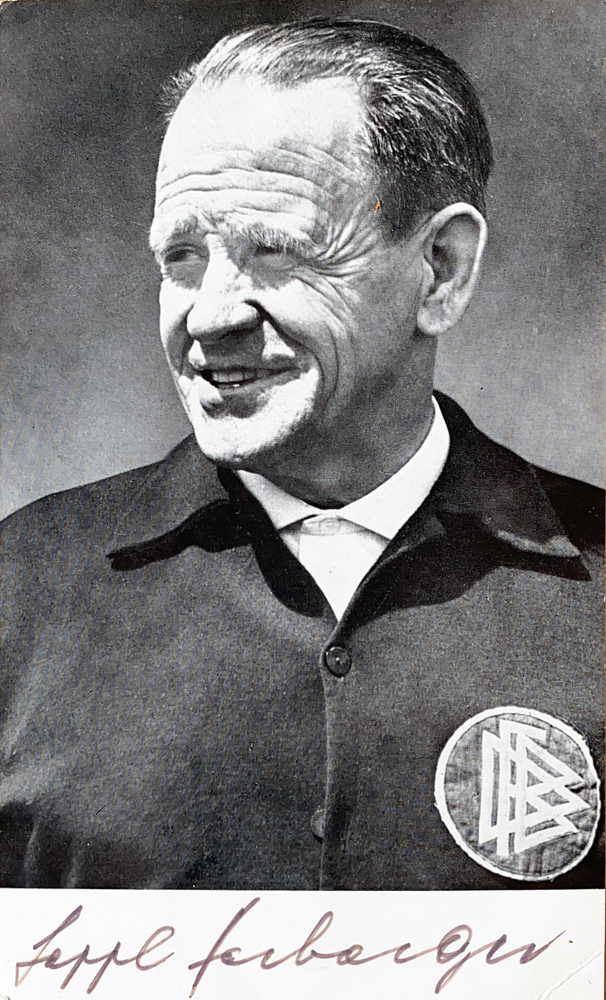 Autograph Sepp Herberger Autigramm